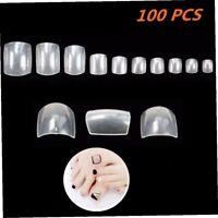 Halicer 100 Fullsize Zehennägel(Fußnägel Tips,falsche nägel,nägel tipps) klar...
