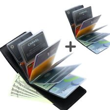 Amazing Slim Thin RFID Security Credit Card Holder Wallet Case for Men and Women