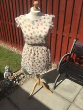 Womans pretty tunic ditsy butterfly dress size 12