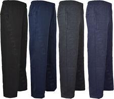 Mens Jogging Fleece Bottoms Joggers Casual Trousers Open Hem 28 30 32 Inside Leg