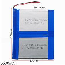 5600mAh Lipo Batería Recargable 3.7V 39100124 para PAD PC de la tableta de Banco de Alimentación PDA