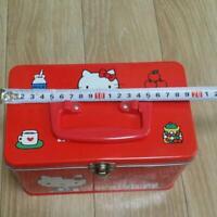 Sanrio Hello Kitty Retro Empty Tin Can Case Box Vintage
