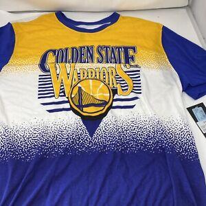 Golden State Warriors Gold T-Shirt tee Size 2XL NWT NBA 100% Cotton