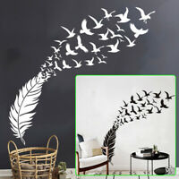 Wall Sticker Bird Feather Bedroom Home Mural Art Living Room Decor  Removable