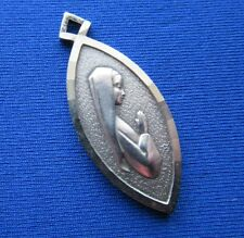 VINTAGE 925 STERLING SILVER PENDANT VIRGIN MARY RELIGIOUS LOURDES FRANCE