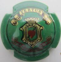 capsule champagne VERTUS vert or et rouge essai