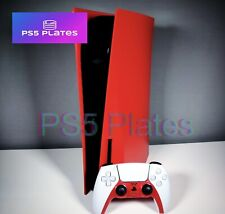 Station 5 PS5 Vivid Red Face Plate Shell Case Cover | Disc Drive Black List 3*