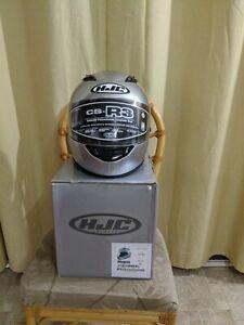 HJC CS-R3 Helmet Silver Size XL 61-62 CM DOT