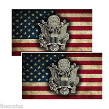 ARMY CREST TOOLBOX  HELMET BUMPER PACK OF 4 STICKER DECAL USA MADE