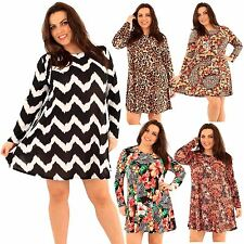 Polyester Long Sleeve Midi Plus Size Dresses for Women