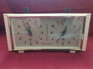 Vintage soviet russian USSR Chess Mechanical Clock Timer Yantar Jantar