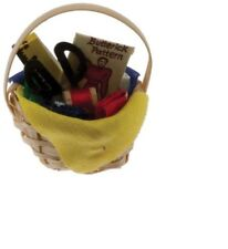 Dollhouse Miniatures 1:12 Scale Sewing Basket #IM65341