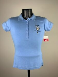 Women's Antigua Light Blue 2009 Stanley Cup Pittsburgh Penguins Champs Polo NWT