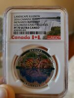 2016 Canada S$20 Landscape Illusion Monarch Butterfly NGC PF70 UC