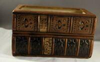 Vintage Napcoware Library Books Planter  Brown, Gold NAPCO #6819