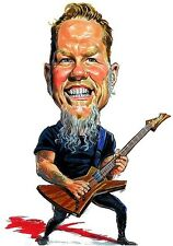 Metallica James Hetfield Caricature Master Of Puppets Sticker or Magnet