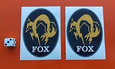 Metal Gear Solid  Fox Hound sticker decal 90mm x 65mm x2 xbox one play station