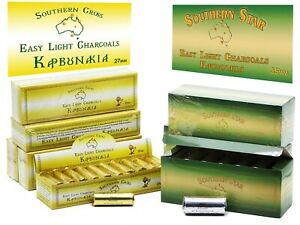 Southern Star Charcoal Range 27-35mm Tablets for Incense Resin 120 Tablets p/box
