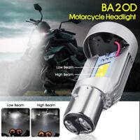 20W BA20D Motorcycle Bulb Hi/Lo Beam Front LED Head Light Lamp 6000K 2000LM