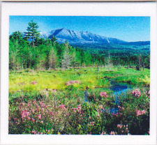 Mt. Katahdin in the spring, Maine - Magnetic bookmark - Hand made