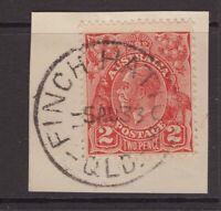 Queensland nice FINCH HATTON postmark on KGV piece 1933