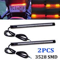 Flexible Motorcycle 32 LED Strip Rear Tail Light Indicator Brake Lamp Bulbs DRL