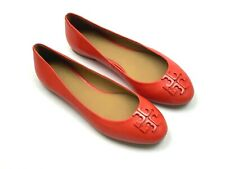 TORY BURCH NEW $229 Lowell 2 Ballet Logo  Flats Shoes in Red Size 7.5