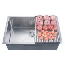 """28"""" x 18"""" x 9"""" Deep Stainless Steel 18 Gauge Undermount Single Bowl Kitchen Sink"""
