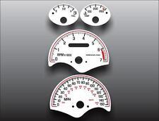 2000-2005 Pontiac Grand Am GT Dash Instrument Cluster White Face Gauges