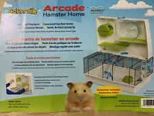 Multilevel Hamster Cage Arcade Exercise Wheel Bowl & Accessories See Descri