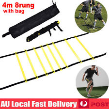 4M 8Rung Agility Speed Ladder w/Bag Sports Training Exercise Gym Equipment w/Bag