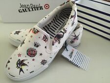 Jean Paul Gaultier Target Slip On Skater Shoes Tattoo Design Senior Size 6 25cm