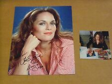 Catherine Bach, Daisy Dukes of Hazzard, Signed Close Up Photo w/Signing Photo