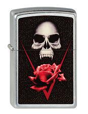 Zipp BS SKULL ROSE vampiro con Rose Skull Gothic Nuovo ACCENDINO 2001125