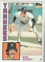 FREE SHIPPING-MINT-1984 Topps #110 Ron Guidry Yankees PLUS BONUS CARDS