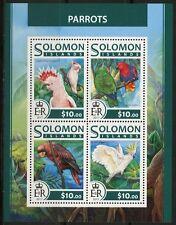SOLOMON ISLANDS 2017 PARROTS SHEET  MINT NH