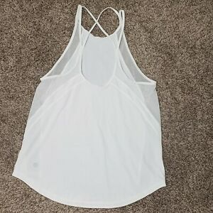 Lululemon Run Off Route Tank White Mesh Top First Release