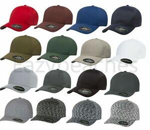 Flexfit® Delta Mid Profile Fitted Baseball Blank Plain Hat Ball Cap Flex Fit 180