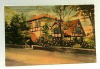 Tannersville New York Onteora Park Library Vintage Postcard