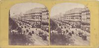 Parigi Istantanea Boulevard Francia Stereo Vintage Albumina Ca 1860
