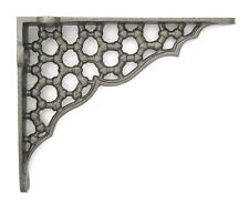 "Pair 6"" Small Cast Iron Honeycomb Shelf Brackets Ornate Antique Style 15 X 12cm"