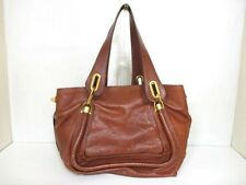Authentic Chloe Brown Paraty Leather Handbag