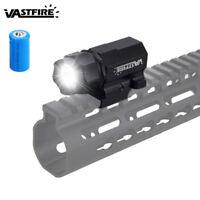 5000LM LED Gun Rifle Flashlight Shortgun Pistol Torch Hunting Lamp Picatinny CR2