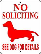 5004 Dachshund Dog Sign Vinyl Outdoor Indoor 9 X 12