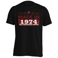 Made in 1974 All Original Parts Funny Novelty Men's T-Shirt/Tank Top jj70m