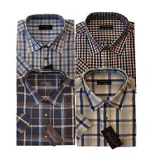 3944 Mens Short Sleeve Summer Yarn Dyed PolyCotton Check Shirt M-6XL  Tom Hagan