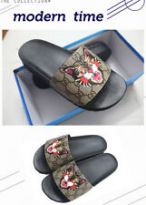 "Gucci --Men's authentic rubber slide sandals ""Angry cat"" print Slipper SIZE 10.5"