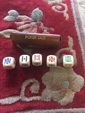 Jaques Poker Dice Real Hide England Made Dice Real Hide