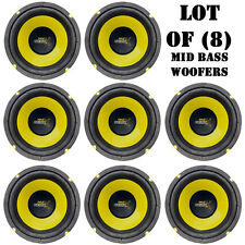 "Lot of (8) Pyle PLG64 6.5"" 300 Watt, 4 Ohm, Mid Bass Woofers, Car Audio System"