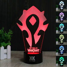 WOW 3D Acrylic World of Warcraft The Horde LED Night Light  Desk Table Art Lamp